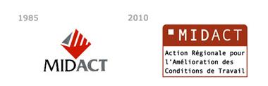 Ancien et nouveau logo du Midact